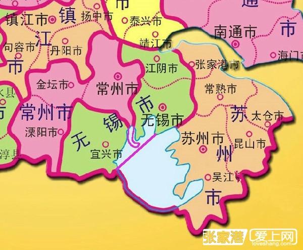 太湖水域划分地图(苏州70%,无锡28.5%,常州1.5%)