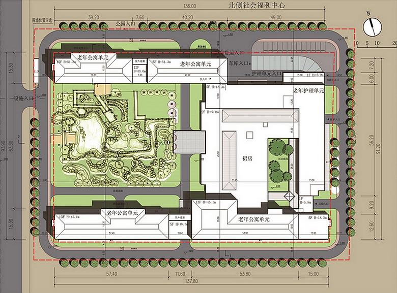 本项目规划设计方案总平面图,效果图.图片