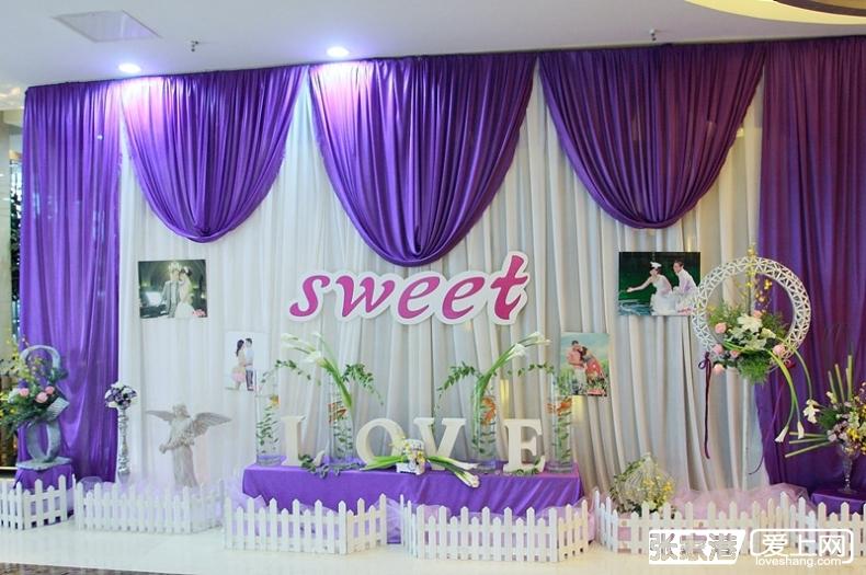 别样红婚庆主题婚礼——海港城大酒店紫色系婚礼